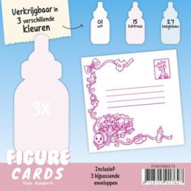 Figure Cards - Flesje - Lichtroze FC4K10003-15