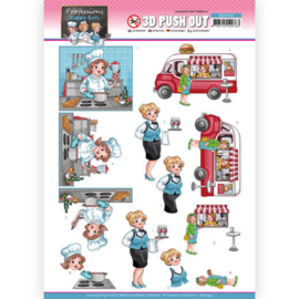 3D Push Out - Yvonne Creations - Bubbly Girls Proffesions - Catering SB10547
