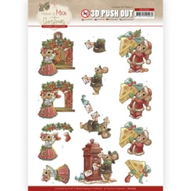 3D Push Out - Yvonne Creations - Have a Mice Christmas - Sending Christmas Cards SB10584