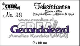 Crealies Tekststans - gecondoleerd 9 x 66 mm / CLTS38