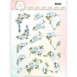 3D Knipvel - Precious Marieke - Flowers in Pastels - Blue Dreams CD11141