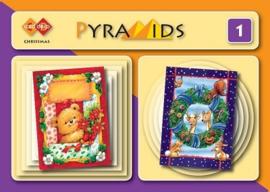 3D boekje Pyramids 1 - Kerst 3D A5 boekje PYM001