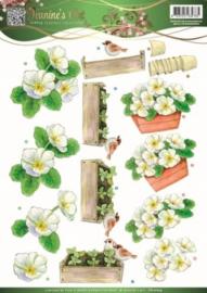 3D Knipvel - Jeanines Art - Garden Classics - White Flowers CD10834