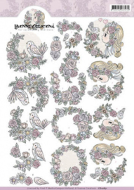 3D Knipvel - Yvonne Creations - I love you CD10851