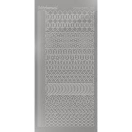 Hobbydots sticker - Mirror - Silver 021 STDM218