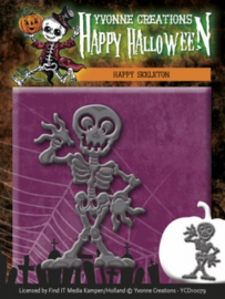 Die - Yvonne Creations - Happy Halloween - Happy Skeleton YCD10079