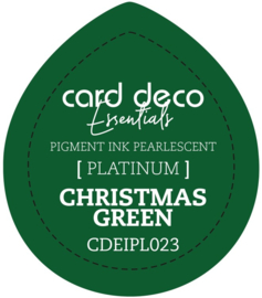 Card Deco Essentials Fast-Drying Pigment Ink Pearlescent Christmas Green CDEIPL023