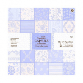 12 x 12 Paper Pack (32pk) - Capsule Collection - French Lavender PMA 160232