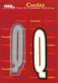 Crealies Cardzz letters letter Q CLCZ417 max. 13 cm