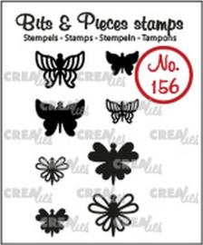 Crealies Clearstamp Bits & Pieces 8x Mini Vlinders 7 + 8 CLBP156 max. 14x12 mm