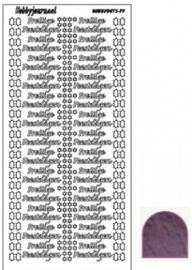 Hobby dots sticker Prettige Feestdagen mirror violet STDMPF06