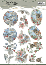3D Cutting Sheet - Jeanine's Art - Berries and Feathers CD11396