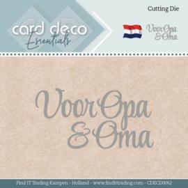 Card Deco Essentials - Dies - Voor Opa & Oma CDECD0062
