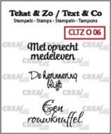 Crealies Clearstamp Tekst&Zo Overlijden 6 (NL) 33 mm CLTZ O06 130505/2106