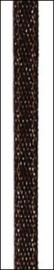10 mtr satijnlint 3 mm donker bruin 6302 059