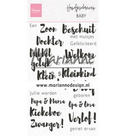 MD clear stamp Hangeschreven - Baby CS1051