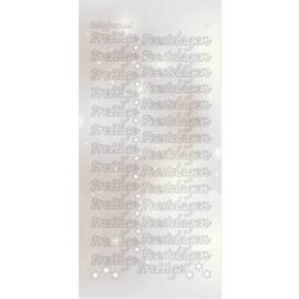 Hobbydots Sticker - Pearl  - Prettige Feestdagen Silver STDPPF2