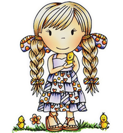 Paper Nest Dolls Rubber Stamps - Little Chick Ellie