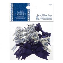 Large Ribbon Bows (12pcs) - Capsule Collection - Parisienne Blue PMA 367209