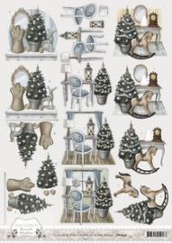 3D Knipvel - Amy Design - Brocante Christmas - Home Decoration CD10533