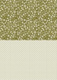 Background sheets A4 Christmas green snowflakes NEVA040