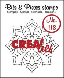 Crealies Clearstamp Bits&Pieces no. 118 Mandala E 43x43 mm / CLBP118 130505/1118