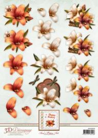 Ann's Paper Art 3D Decoupage Autumn Lilies APA3D018