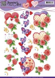 3D Knipvel - Jeanines Art - Liefde Valentijn CD10824