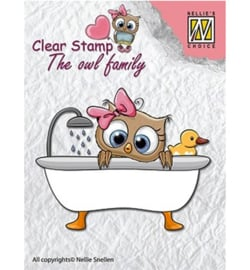 Nellie clear stamp The owl family CSO005