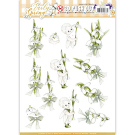 3D Pushout - Precious Marieke - Early Spring - Early Snowdrops SB10228