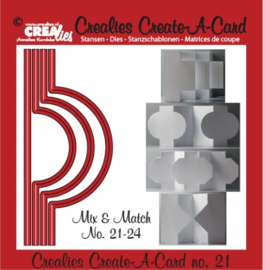 Crealies Create A Card no. 21 stans voor kaart 14,5 x 6,5 cm / CCAC21 115634/1521
