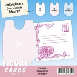 Figure Cards - Slabbertje - Lichtroze FC4K10002-15