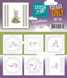 Stitch & Do - Cards only - 4k - Set 18 COSTDO10018