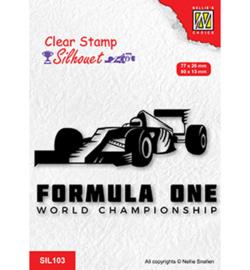 Nellie clearstamp SIL103 - Formula one serie: 2