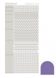 Hobby dots sticker mirror Violet 009 STDM096