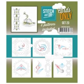 Stitch & Do - Cards only - 4k -  Set 23 COSTDO10023