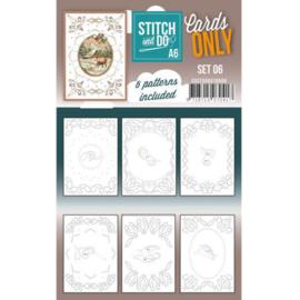 Cards Only Stitch A6 - 006  COSTDOA610006