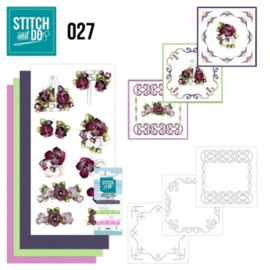 Stitch and Do 27 - Flowers STDO027