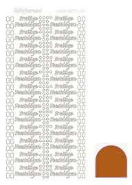 Hobby dots sticker Prettige Feestdagen mirror Brown STDMPF0G