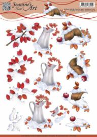 Jeanine's art winter berries CD10843