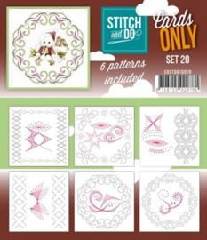 Stitch & Do - Cards only - 4k - Set 20 COSTDO10020