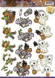 3D Knipvel Yvonne Creations - CD10409 Halloween Cut Creatures