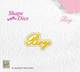 Nellies Choice Shape Die - Tekst Boy SD118