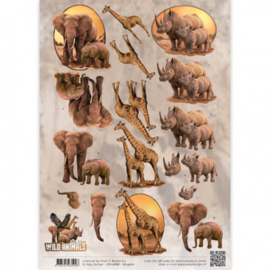 3D Knipvel - Amy Design - Wild Animals - Big Five 2 CD10868 - HJ14601