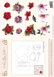 3D Card Embroidery Sheet 24 Medical 3DCE2024