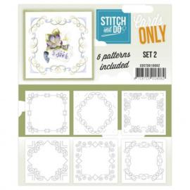 Stitch & Do - Cards Only - 4k - Set 2 COSTDO10002