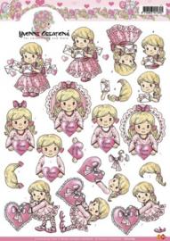 3D Knipvel - Yvonne Creations - Valentijn - Meisje CD10189