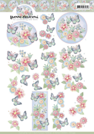 3D cutting sheet - Yvonne Creations - Funky Butterfly  CD11449