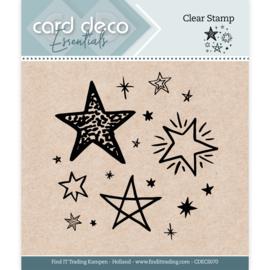 Card Deco Essentials - Clear Stamps - Stars CDECS070