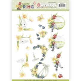 3D Pushout - Precious Marieke - Happy Spring - Happy Daffodils SB10329